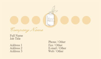 Yellow and Orange Bakery Business Card Template